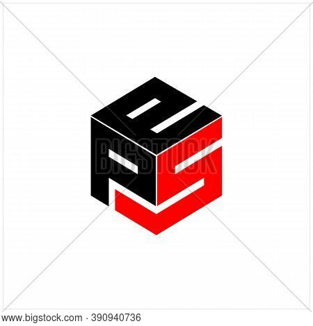 Modern Initial Letter P S And E With Box Vector Logo Design Inspiration