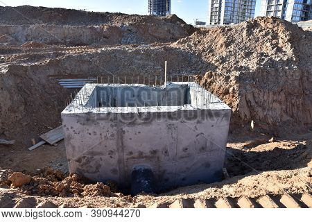 Construction Of Concrete Stormwater Pits, Sanitary Sewer System Distribution Chamber And Pump Statio