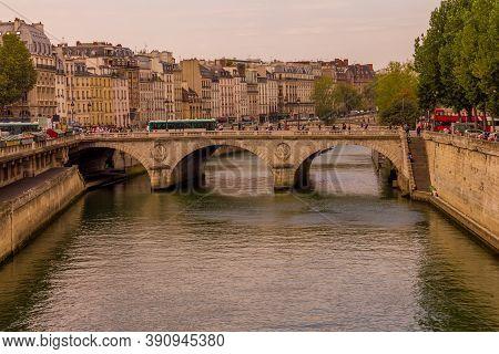 Pont Neuf And The Seine River, Paris, France