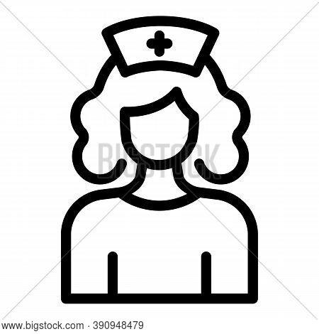 Student Job Medical Nurse Icon. Outline Student Job Medical Nurse Vector Icon For Web Design Isolate