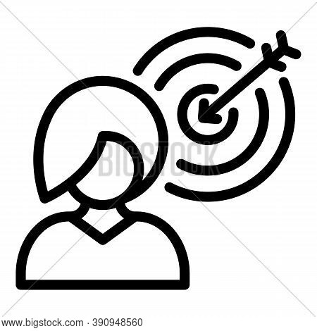 Student Job Target Icon. Outline Student Job Target Vector Icon For Web Design Isolated On White Bac