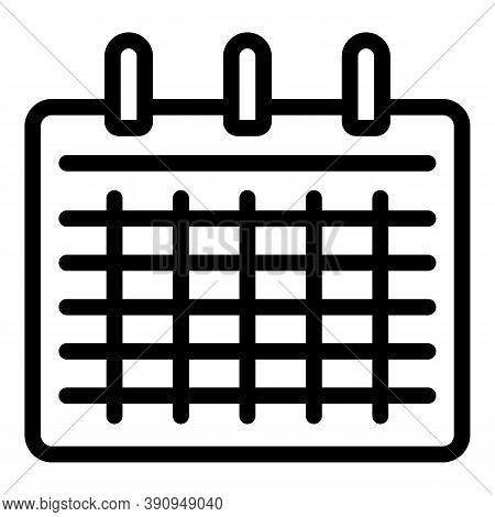 Student Job Calendar Icon. Outline Student Job Calendar Vector Icon For Web Design Isolated On White