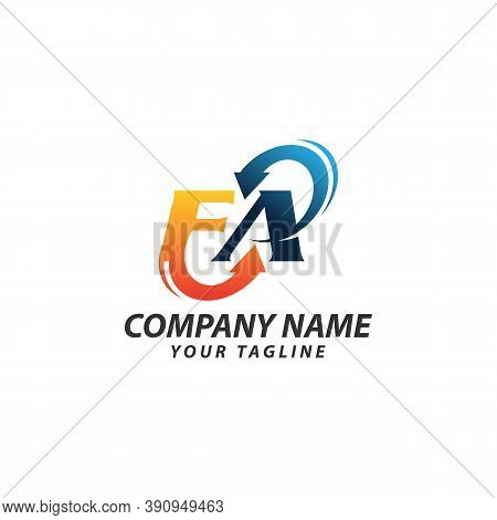 Creative And Simple Letter Af Or Fa For Icon Or Company Or Business Logo Design Vector Editable