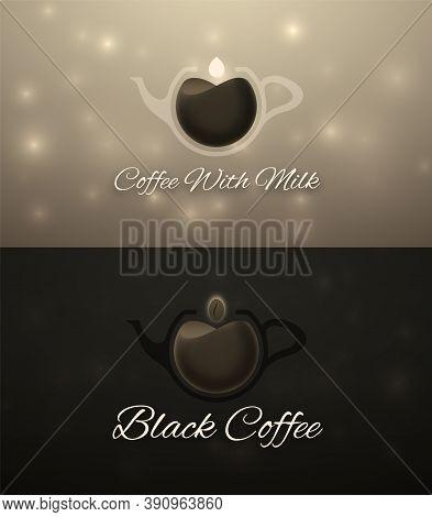Set Of Horizontal Coffee Banners, Vector Illustration