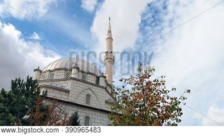 Turkey In The Neighborhood Of A Neighborhood Mosque, Minaret And Long-domed Mosque,