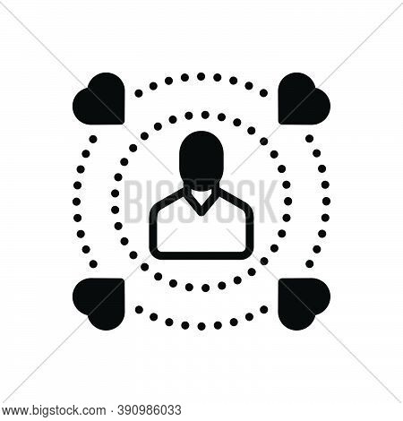 Black Solid Icon For Influence Affect Impact Influence Impression Efficacy Force