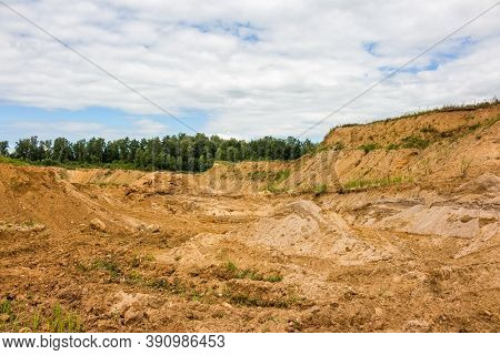 Panoramic View Of The Sand Pit Panorama