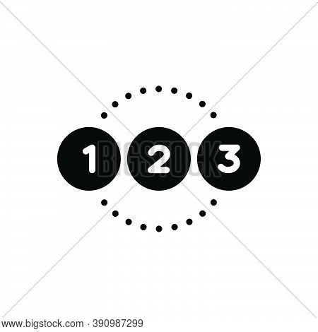 Black Solid Icon For Number Enumeration Calculation Reckoning Digit Count Numeration