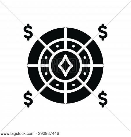 Black Solid Icon For Stake Manoeuvre Casino Gambling Game Entertainment Machine Addiction Jackpot