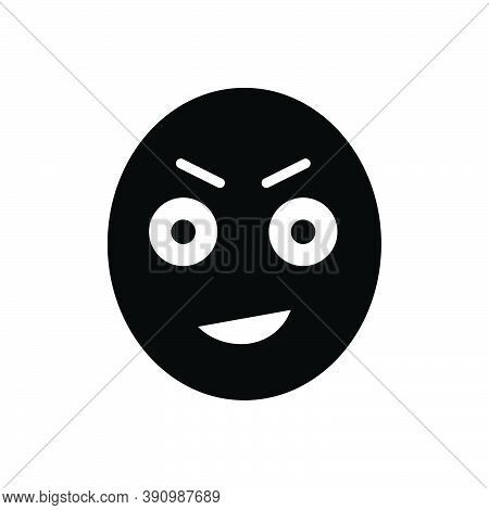 Black Solid Icon For Stare Gaze Ogle Gloat Look-fixedly Look Observe Emoji