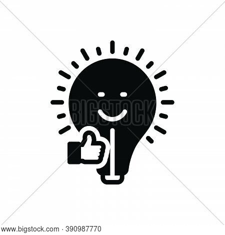 Black Solid Icon For Affect Have-an-effect-on Impress Make-an-impression Inspire Stimulate