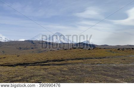 Picturesque Volcanoes, Mountains, Hills And Plains. Amazing Nature Of Kamchatka. Autumn Landscapes O