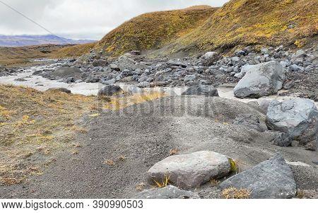 Rivers, Mountains, Hills And Plains. Amazing Nature Of Kamchatka. Travel To The Kamchatka Peninsula.