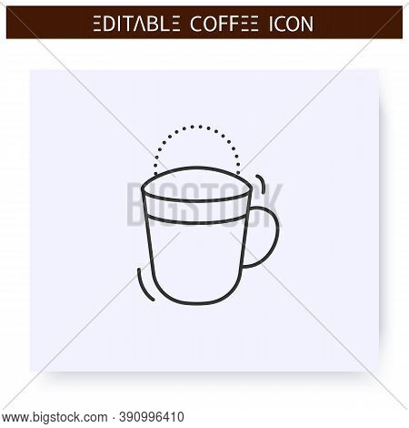 Cold Brew Coffee Line Icon. Type Of Coffee Drink, Mixed With Water And Cooled. Coffeehouse Menu. Dif