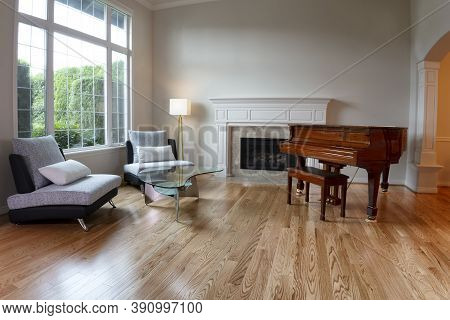 Living Room Remodeled With Solid Red Oak Wooden Floors