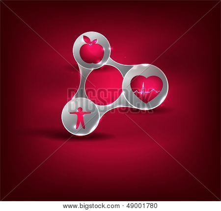 Health care symbol triangle