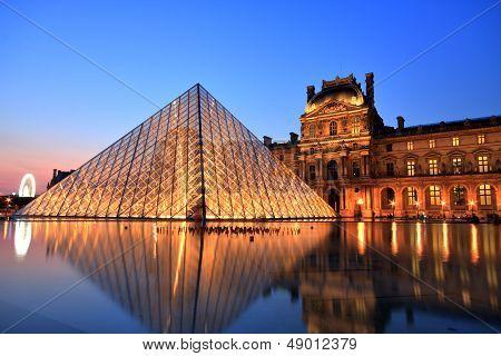 Louvre Museum At Night, Paris