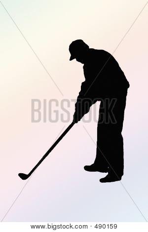 Silhouette Golf Putt