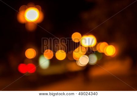 Warm City Blur Of Night Lanterns