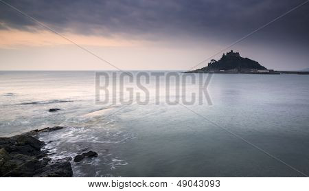 St Michael's Mount Bay Marazion landscape sunrise long exposure Cornwall England