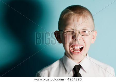 Screaming Scared Teenager Boy