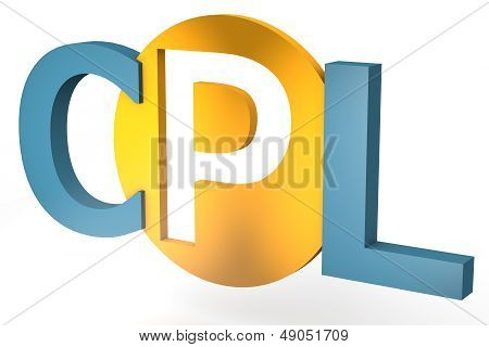 acronym concept: CPL for Cost per Lead isolated on white background poster