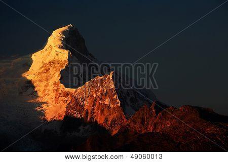 Huandoy Peaks (6395m) in Cordilera Blanca, Peru, South America poster