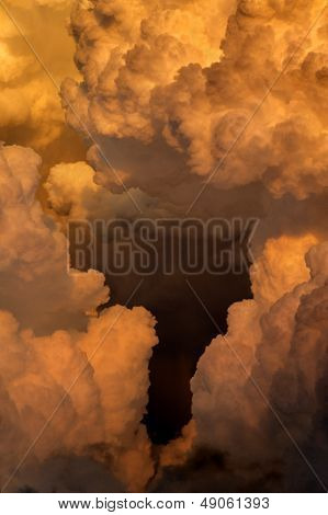 Billowy Sunset Clouds