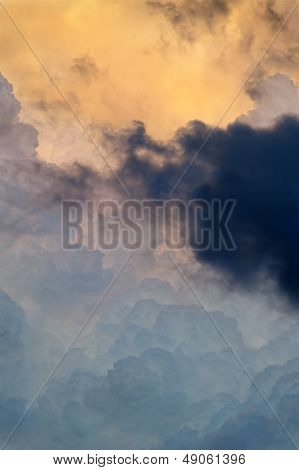 Blue And Gold Clouds
