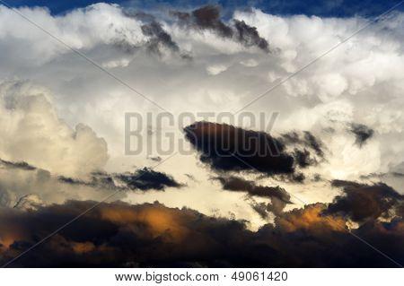White And Dark Clouds