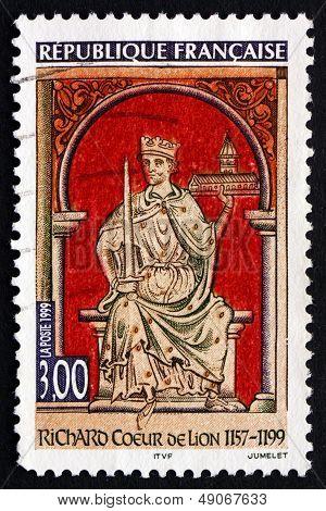 Postage Stamp France 1999 Richard I, The Lionheart