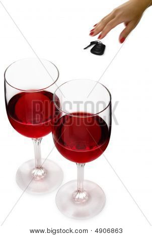 Red Wine And Car Keys