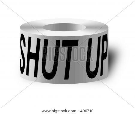 Sticky Tape With 'shut Up'
