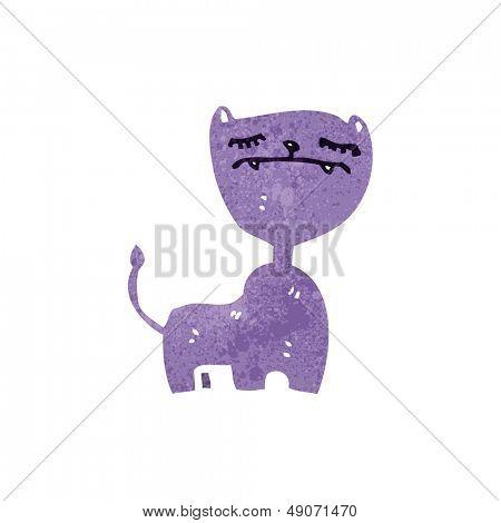 retro cartoon arrogant cat