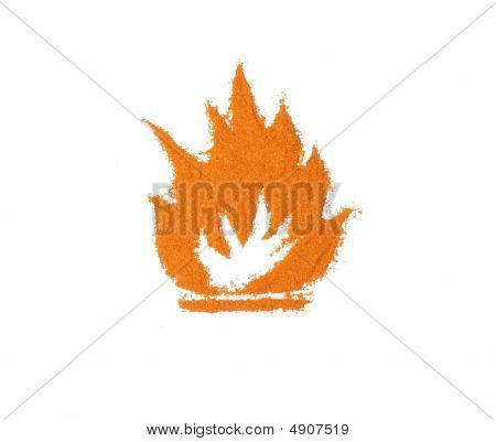 Flammable Sign Made Of Pepper