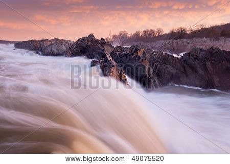 Potomac River Great Falls Cascade at Sunrise