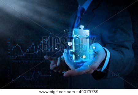 Businessman Hand Showing Partnership Sign