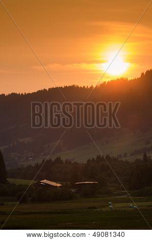 Evening Sun In The Allgau Alps