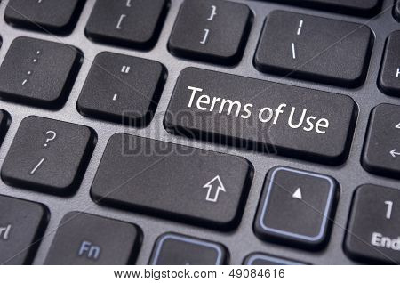 Terms Of Use, Message On Keyboard