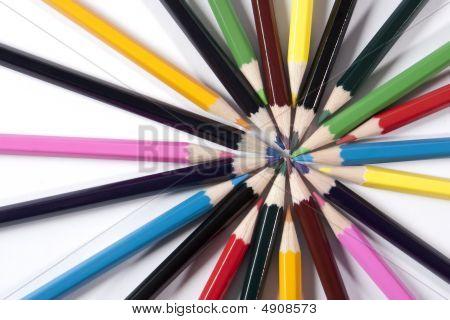 Colored Pencils Looks Like Sun Rays.