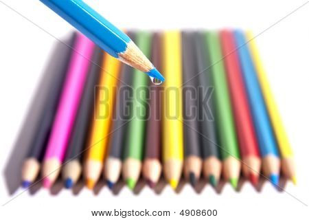 Colored Pencils With A Macro Drop