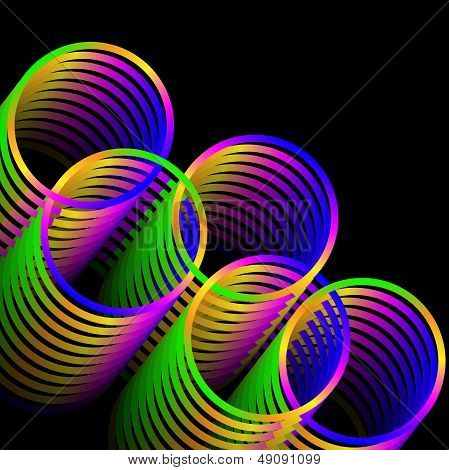 Linked Rainbow Rings