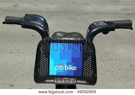 Citi bike in Lower Manhattan