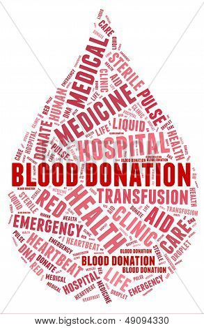 Blood Donation Pictogram With Red Wordings