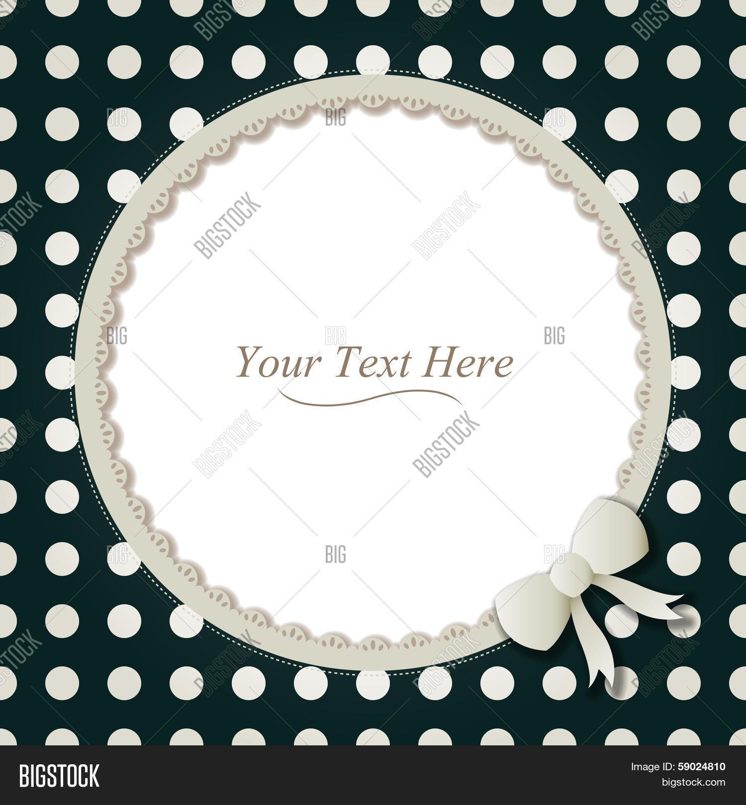 Round Polka Dot Frame Vector & Photo (Free Trial) | Bigstock