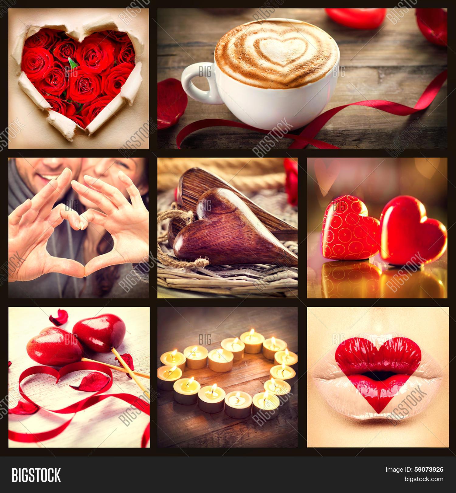 valentine collage image photo free trial bigstock