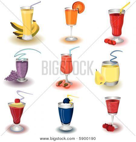 Fruit Shake Icons