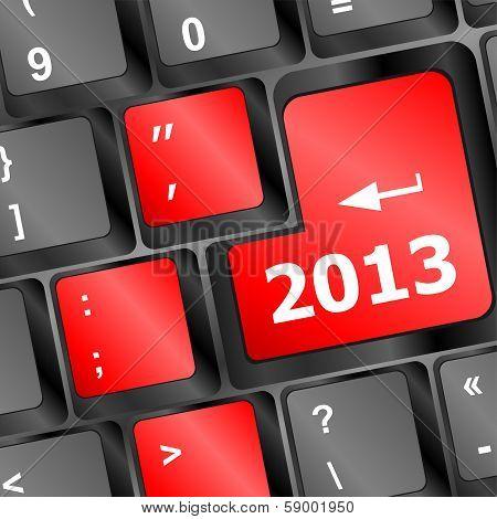 2013 Key On Keyboard. New Year