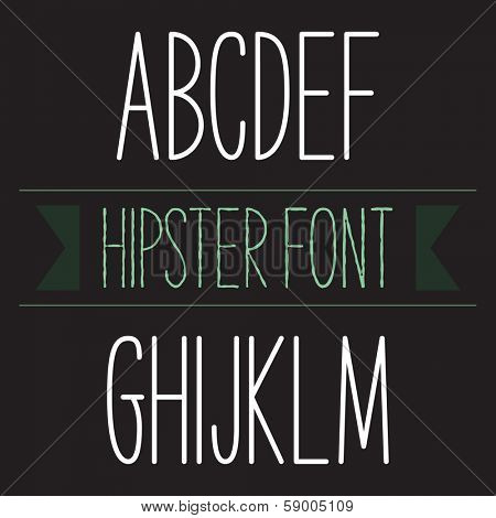 Modern minimal hipster font alphabet; Sans-serif elegant light font, vector alphabet letters design.  Heavy (bold, black, book) version