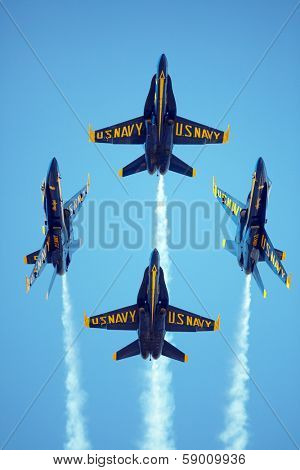MCAS MIRAMAR, CA - OCTOBER 3: Blue Angels squadron Air Show October 3    October 3, 2009 on MCAS Miramar, CA